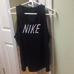 Nike Black Logo Dri Fit Workout Tank